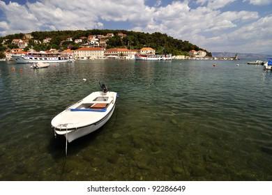 Panorama of Port in Jelsa, Croatia