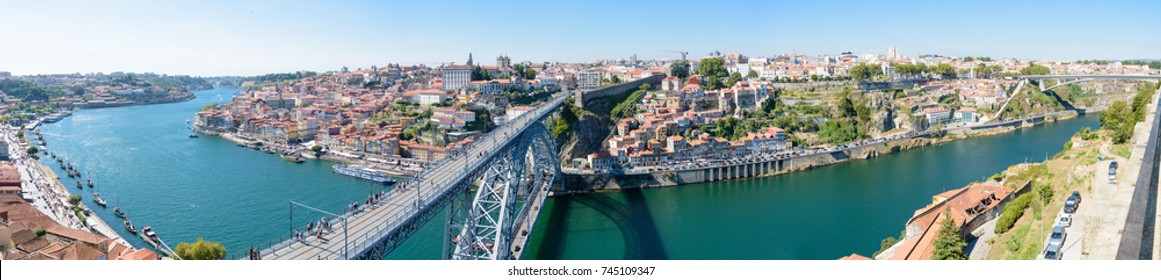 Panorama of Porto and Douro river