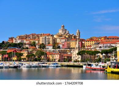 panorama of Porto Maurizio Imperia Liguria Italy