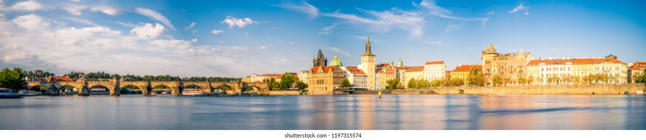 Panorama of Prague in Czech Republic