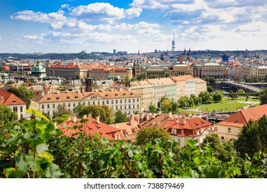Panorama of Prague old town, Czech Repubic