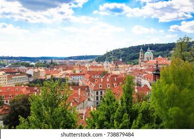 Panorama of Prague old town, Czech Repubic