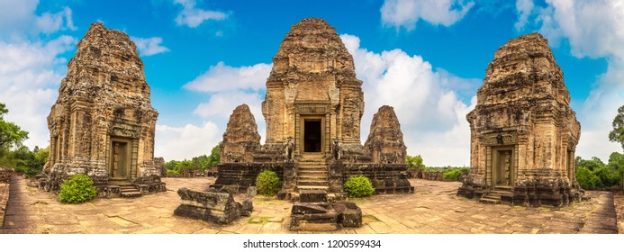 Panorama of Pre Rup temple in complex Angkor Wat in Siem Reap, Cambodia in a summer day