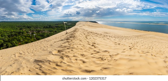 Panorama of the Pyla dune in France, the biggest of Europe, Bassin d'Arcachon, France