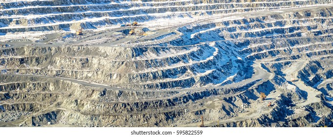 panorama of the quarry mining, Asbestos, Russia, Ural