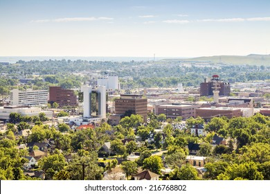 Panorama of Rapid City, South Dakota, USA