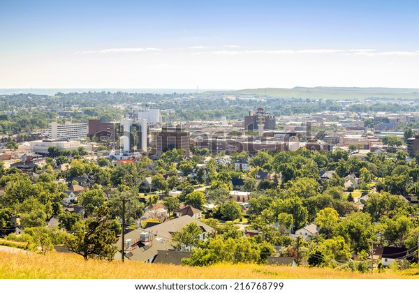 Panorama of Rapid City, South Dakota, USA