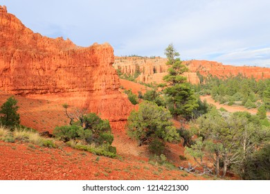 Panorama from Red canyon from to road to Bryce Canyon. Utah landscape, USA. Hoodoos, geological formations