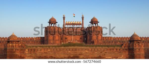 Panorama des Roten Forts in Delhi