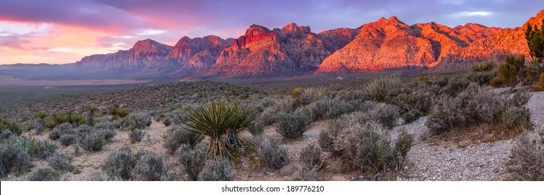Panorama of Red Rock Canyon Las Vegas Nevada
