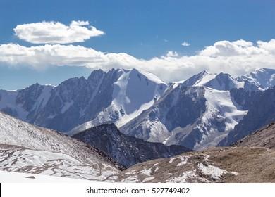 Panorama ridge of Tien Shan, Asia, Kyrgyzstan