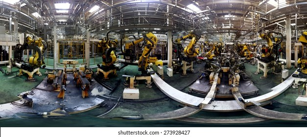 Panorama of robotic welding station