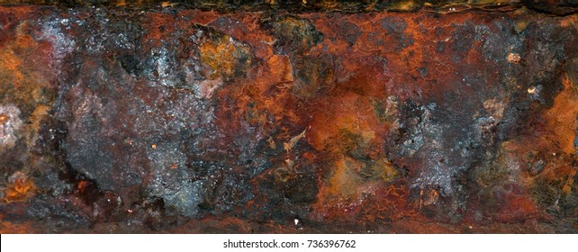 Panorama of  rusty texture or background