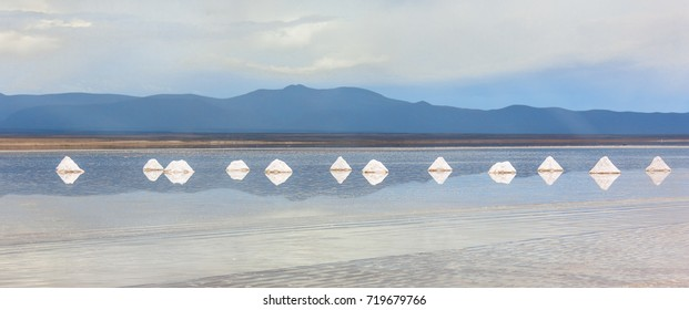 Panorama of Salar de Uyuni. This is the largest salt flat in the World (UNESCO World Heritage Site) - Altiplano, Bolivia, South America