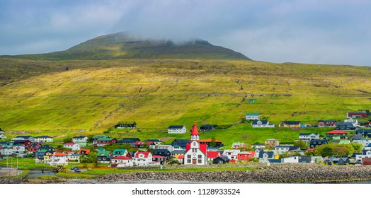 Panorama of Sandavagur,  Faroe Islands