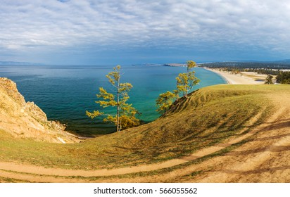 Panorama of sandy beach in a very high resolution