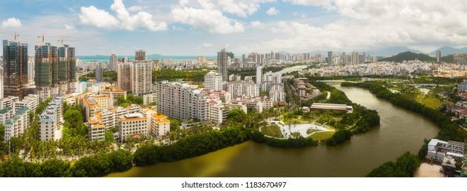 Panorama Sanya, Hainan island.
