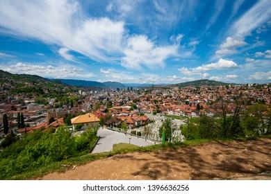 Panorama of Sarajevo, the capital city of Bosnia and Herzegovina
