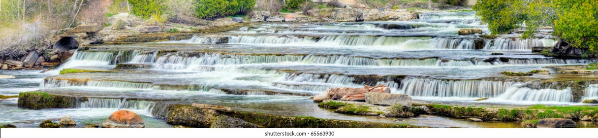 Panorama of Sauble Falls Ontario Canada