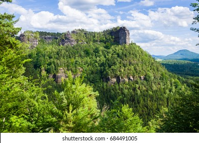 Panorama of Saxon Switzerland National Park,  Czech Republic