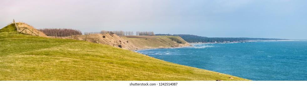 Panorama of scandinavian landscape in Skane County, Sweden