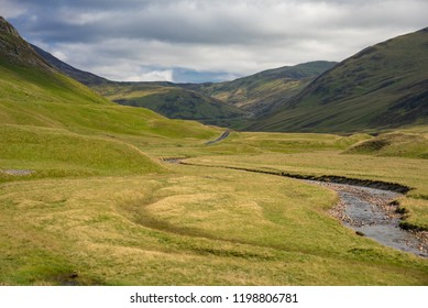 panorama of Scottish Highlands in England