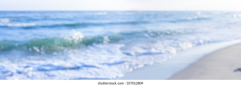 panorama sea shore blurred abstract nature background stylized