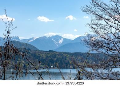 Panorama of Wörther See - Lake view - Wörthersee, Klagenfurt, Carinthia, Austria