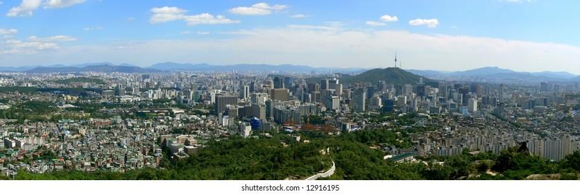 Panorama of Seoul, South Korea
