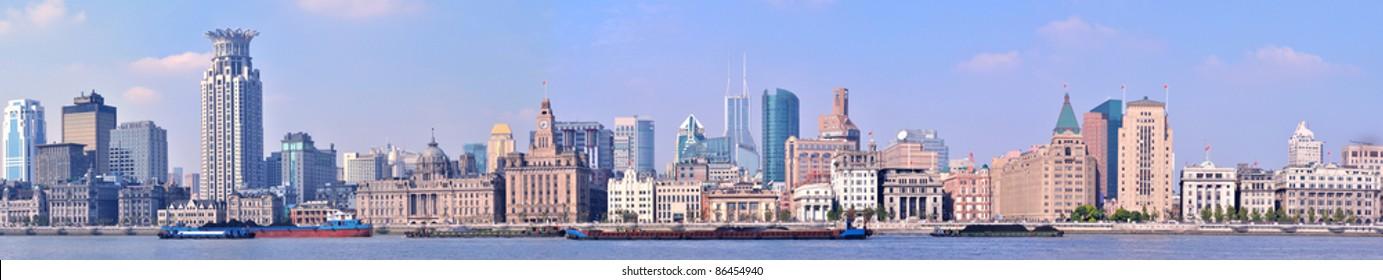 Panorama of Shanghai Bund, China