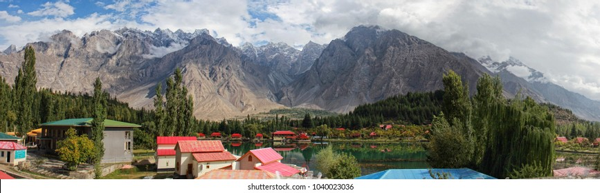 Panorama of shangrila resort, Skardu, Pakistan