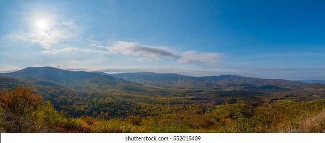 Panorama at Shenandoah National Park