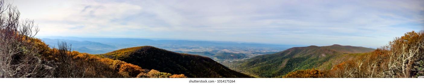 Panorama of Shenandoah National Park, Virginia