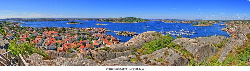 Panorama shot of Fjaellbacka in Sweden