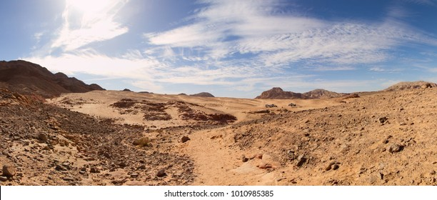 Panorama of Sinai desert