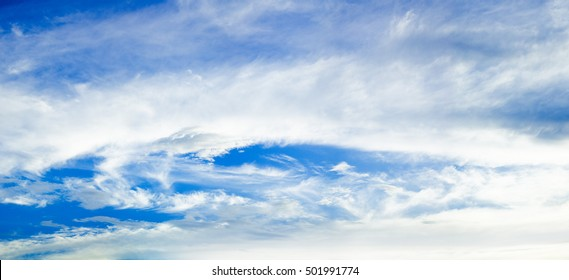 panorama sky and cloud as background