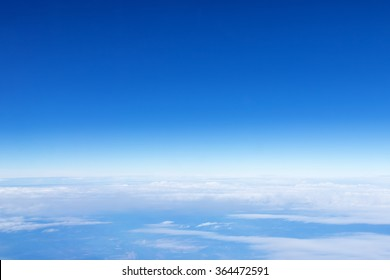 Panorama sky with clouds