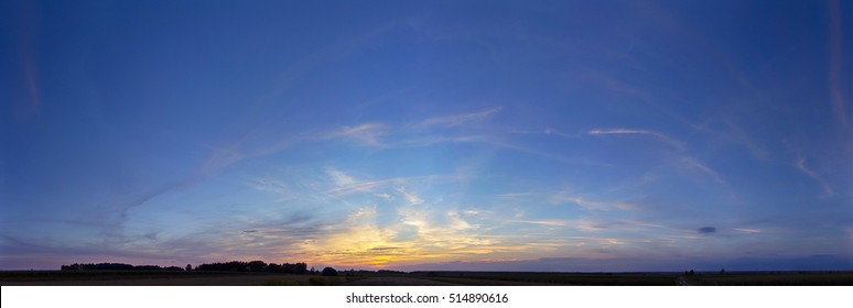 panorama sky sunset