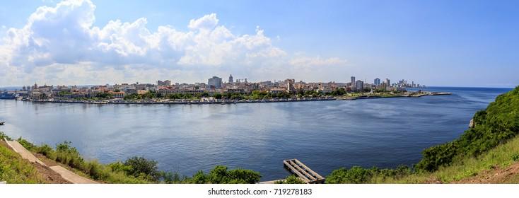 A panorama of the Skyline of Havana. Taken from Habana del Este.
