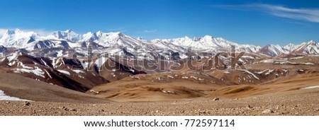 Panorama of snowcapped Himalaya