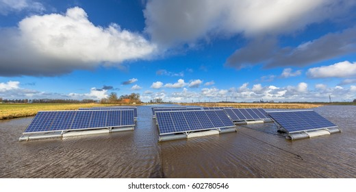 Panorama of solar units on open water bodies can represent a serious alternative to ground mounted solar systems