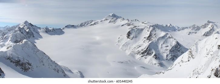 Panorama of Solden, Austria