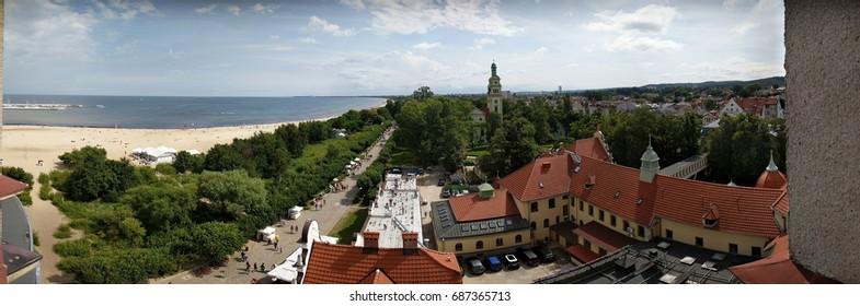 Panorama of Sopot, Poland