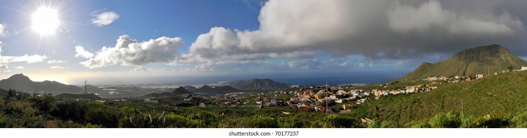 Panorama of South side of Tenerife
