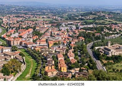 Panorama of Spoleto, Umbria, Italy