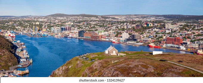 Panorama of St. John's, Newfoundland. St. John's, Newfoundland and Labrador, Canada.