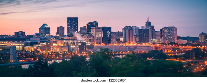 Panorama of St. Paul. St. Paul, Minnesota, USA.