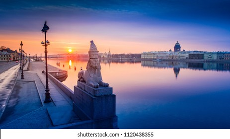 Panorama of St. Petersburg. Bridges of Petersburg. Russia. View of the city from a height. Architecture of Petersburg. Russian cities.