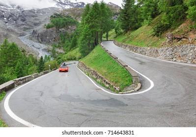 panorama of the Stelvio Pass, Italy