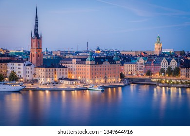 Panorama of Stockholm. Stockholm, Sodermanland and Uppland, Sweden.